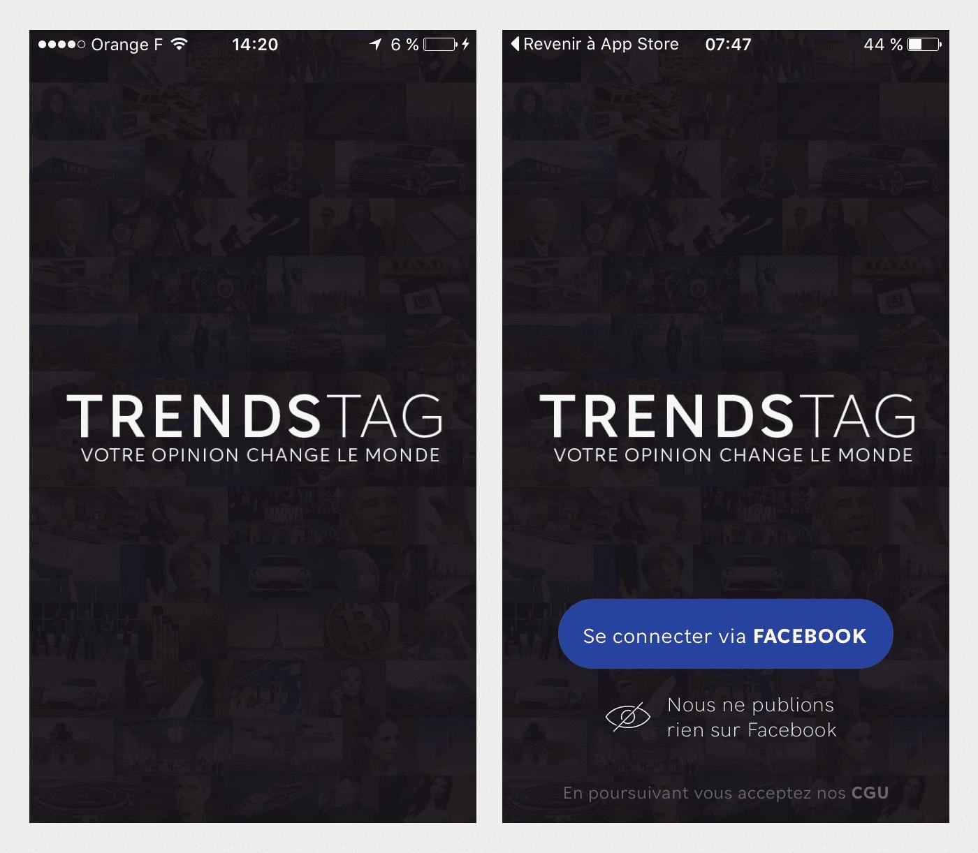 TrendsTag. Typographies sur mesure pour Startup. Caractère Sans Serif.
