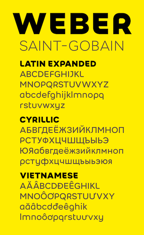 Typographie Weber Saint-Gobain by www.typophage.com - Christophe Badani