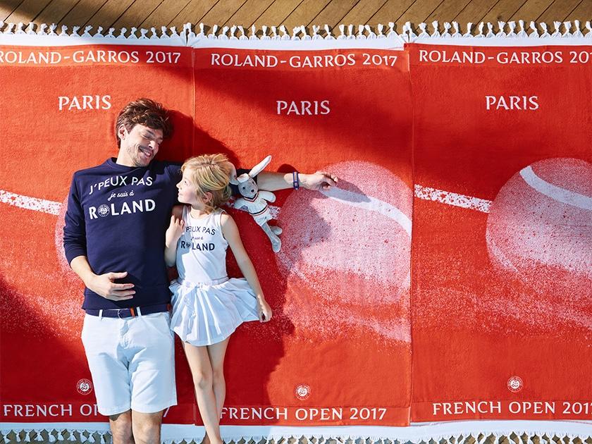 Typographies Roland-Garros en usage. Photo : Roland-Garros