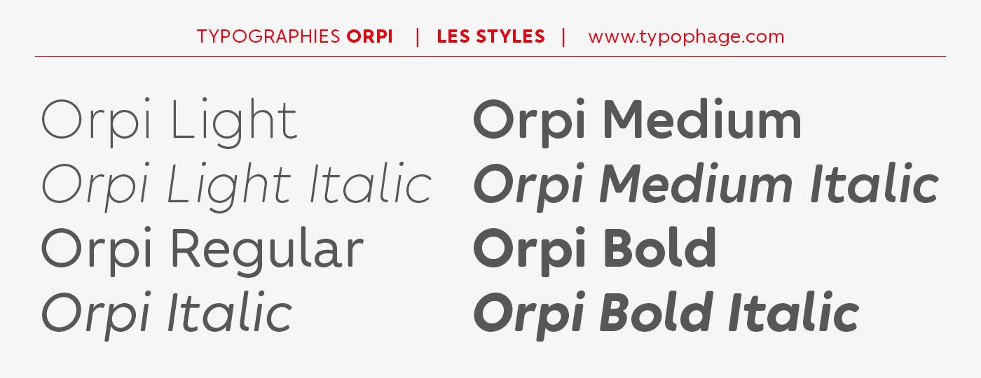 Typographies d'identité sur mesure pour Orpi.